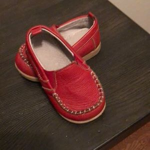 Other - Red leather loafers/moccasins for boy